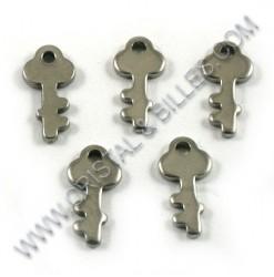 Breloque clef 12x06mm,...
