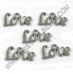 "Pendentif ""Love"" 13x7mm,..."