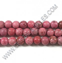 Agate crazy Rose, 08mm